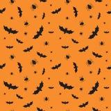 Безшовная картина на хеллоуин Стоковые Фото