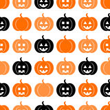 Безшовная картина на halloween Стоковая Фотография