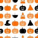 Безшовная картина на halloween Стоковые Изображения