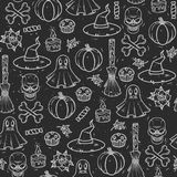 Безшовная картина на halloween Стоковое фото RF