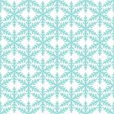 Безшовная картина Нового Года зимы со снежинками на белизне иллюстрация вектора
