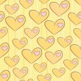 Безшовная картина дня валентинки с сердцами Стоковая Фотография RF
