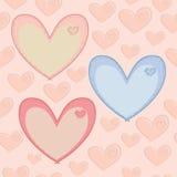 Безшовная картина дня валентинок с сердцами с a Стоковая Фотография