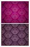 Безшовная картина обоев (фиолетовый & темный) Стоковое фото RF