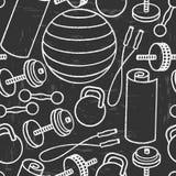 Безшовная картина оборудования для спортзала Бесплатная Иллюстрация