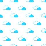 Безшовная картина облаков Стоковое Изображение