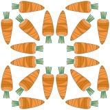 Безшовная картина овощей морковей Стоковые Изображения