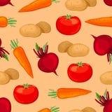 Безшовная картина овощей. Стоковые Фотографии RF