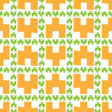Безшовная картина оранжевых геометрических диаграмм стоковое фото
