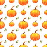 Безшовная картина оранжевых тыкв Стоковое Изображение