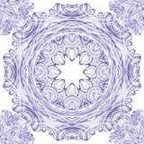 Безшовная картина орнамента вектора с кругами Стоковые Изображения RF