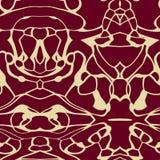 Безшовная картина орнамента в абстрактном стиле Стоковое Фото