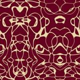 Безшовная картина орнамента в абстрактном стиле Стоковые Изображения RF