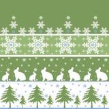 Безшовная картина орнамента рождества Стоковое Изображение RF