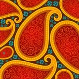 Безшовная картина основанная на традиционных азиатских элементах Стоковое Изображение RF