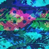 Безшовная картина отпечатков листьев Стоковые Изображения