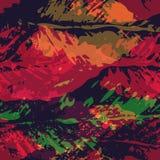 Безшовная картина отпечатков листьев Стоковое Изображение