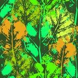 Безшовная картина отпечатков листьев Стоковая Фотография