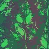 Безшовная картина отпечатков листьев Стоковое фото RF