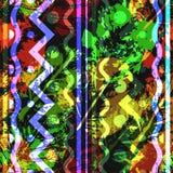 Безшовная картина отпечатков листьев Стоковые Изображения RF