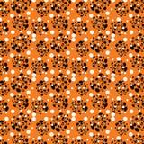 Безшовная картина от абстрактных форм на оранжевой предпосылке бесплатная иллюстрация