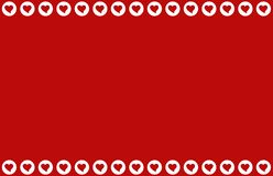 Безшовная картина от белых сердец на красной предпосылке вектор Валентайн иллюстрации s сердца зеленого цвета dreamstime конструк бесплатная иллюстрация