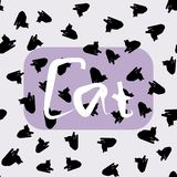 Безшовная картина от изображения кота Стоковые Фотографии RF