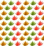 Безшовная картина от листьев, акварель Стоковое Изображение RF