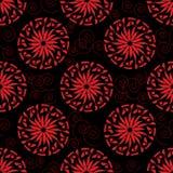 Безшовная картина от красных цветков Стоковое Фото