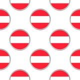 Безшовная картина от кругов с флагом Австрии Стоковое фото RF