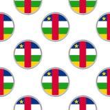 Безшовная картина от кругов с флагом центрально-африканского r бесплатная иллюстрация