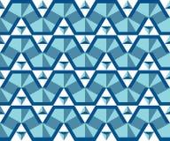 Безшовная картина от простых триангулярных элементов Стоковое Фото
