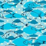 Безшовная картина от рыб иллюстрация штока