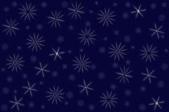 Безшовная картина от снежинок Стоковая Фотография