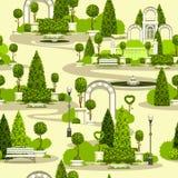 Безшовная картина парка иллюстрация штока