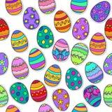 Безшовная картина пасхального яйца предпосылки Стоковые Изображения RF
