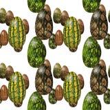 Безшовная картина пасхи с яичками змейки Стоковое Изображение
