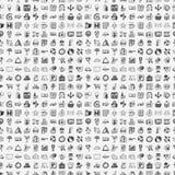 Безшовная картина перемещения doodle Стоковое Фото