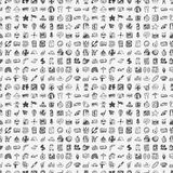 Безшовная картина перемещения doodle Стоковые Фото