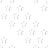 Безшовная картина, печати звезд Стоковые Изображения