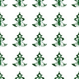 Безшовная картина, печати рождественских елок Стоковое Фото
