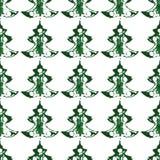 Безшовная картина, печати рождественских елок Стоковые Изображения RF
