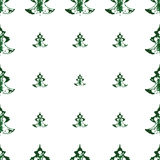 Безшовная картина, печати рождественских елок Стоковое Изображение