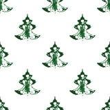 Безшовная картина, печати рождественских елок Стоковое Изображение RF