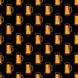 Безшовная картина пива Стоковое Изображение