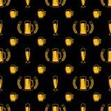 Безшовная картина пива Стоковое фото RF