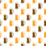 Безшовная картина пива Стоковые Фотографии RF
