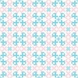 Безшовная картина пинка и сини младенца цветков иллюстрация штока