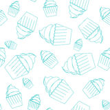 Безшовная картина пирожных Стоковые Изображения