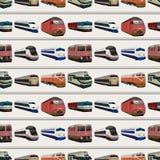 Безшовная картина поезда Стоковое Изображение